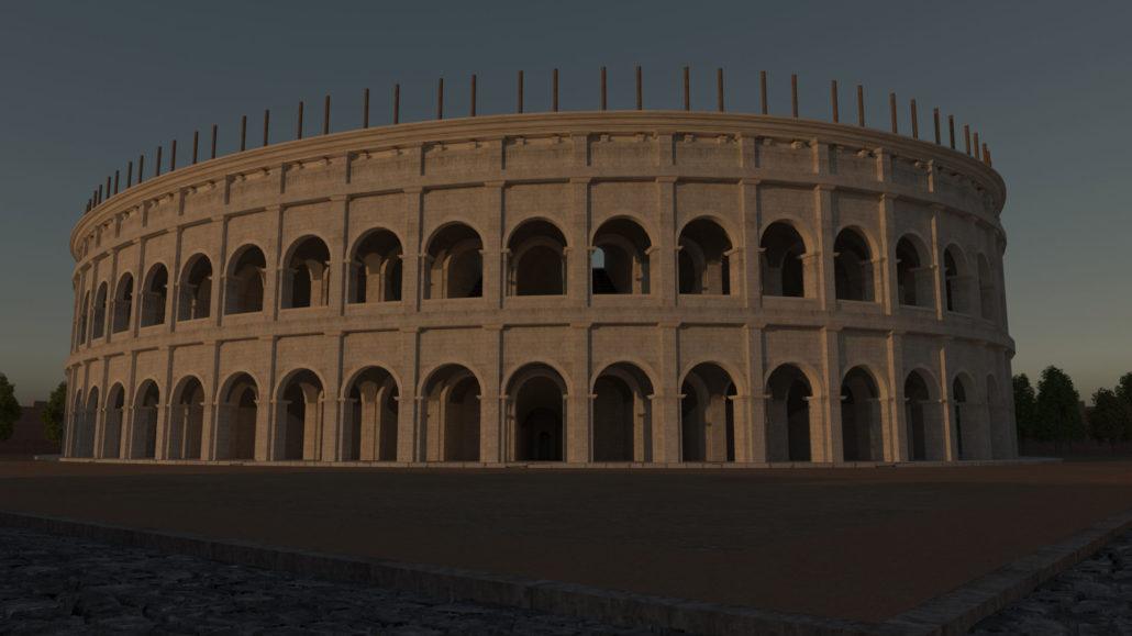 Vista ravvicinata dell'Anfiteatro.